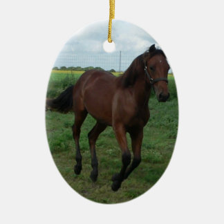 Laufender Colt Ovales Keramik Ornament