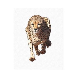 Laufender Gepard, Art 1 Leinwanddruck