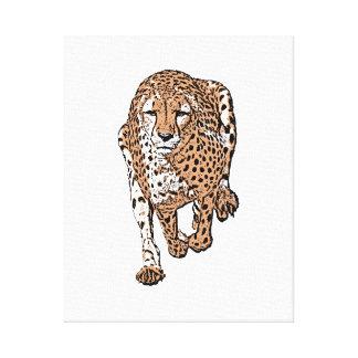 Laufender Gepard, Art 2 Leinwanddruck