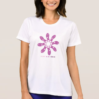 Laufender Schuh-Druck-Blume Sport-Tek T-Shirt