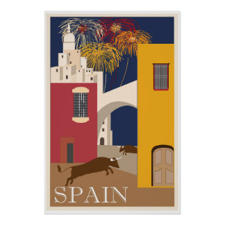 Laufendes Festival-Vintages Reise-Plakat Poster