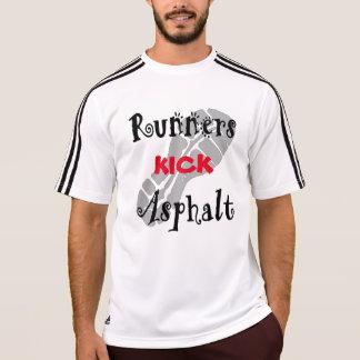 Läufer-Tritt-Asphalt Adidas SS T-Shirt