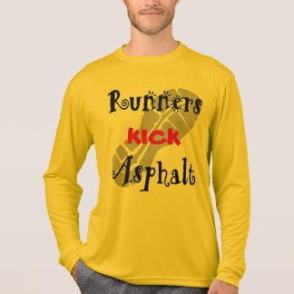 Läufer-Tritt-Asphalt Sport-Tek LS T-Shirt