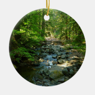 Laughingwater Nebenfluss an Nationalpark des Mount Keramik Ornament