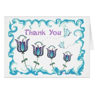 Launische Tulpen danken Ihnen zu kardieren Karte