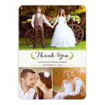 Lauriers élégants épousant la carte plate de photo carton d'invitation  12,7 cm x 17,78 cm