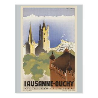 Lausanne Ouchy die Schweiz Vintages Europa Postkarte