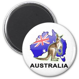 L'Australie Magnet Rond 8 Cm