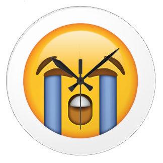 Laut schreiendes Gesicht - Emoji Große Wanduhr