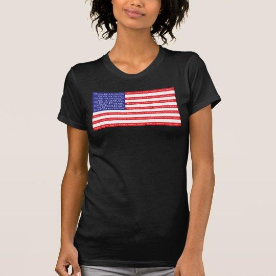 Laute u. stolze amerikanische Flagge T-Shirt