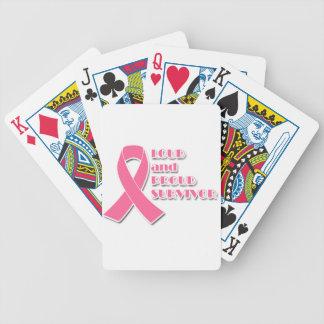Lauter und stolzer Brustkrebs-Überlebender Bicycle Spielkarten