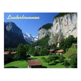 Lauterbrunnen, die Schweiz Postkarte