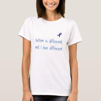 L'autisme est différent, et j'aime la chemise t-shirt