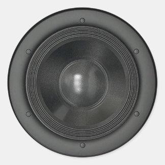 Lautsprecher Runder Aufkleber