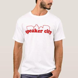 Lautsprecher-Stadt-voll Fronten-Druck T-Shirt