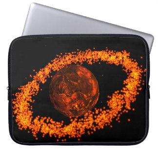 Lava-Planetenhülse Laptop Sleeve