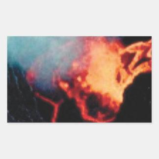 Lavafälle der Hitze Rechteckiger Aufkleber
