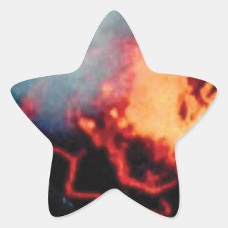 Lavafälle der Hitze Stern-Aufkleber