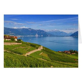 Lavaux Region, Waadt, die Schweiz Karte