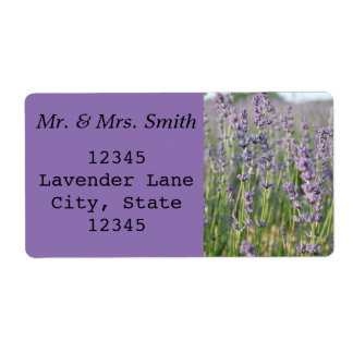 Lavendel-Adressen-Etikett Großer Adressaufkleber