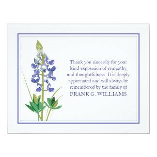 Lavendel-Begräbnis- Anmerkungs-Karten-flache 10,8 X 14 Cm Einladungskarte