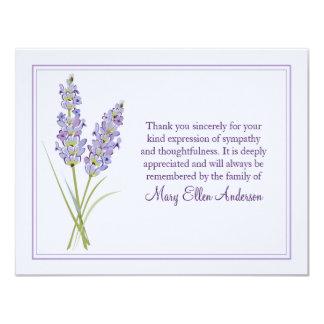 Lavendel-Begräbnis- Anmerkungs-Karten-flache Karte