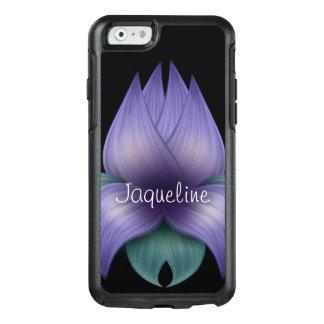 Lavendel-Blume auf Schwarzem OtterBox iPhone 6/6s Hülle