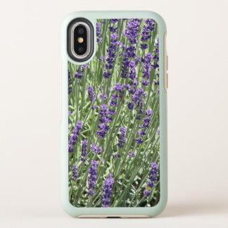 Lavendel-Blumen mit Blumen OtterBox Symmetry iPhone X Hülle