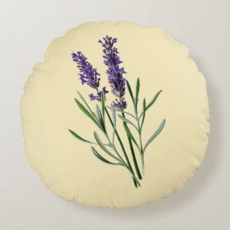 Lavendel-Blumen Rundes Kissen