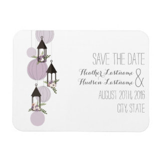 Lavendel-Blumenlaternen Save the Date Flexible Magnete