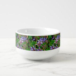 Lavendel-Blüten-Suppen-Tasse Große Suppentasse