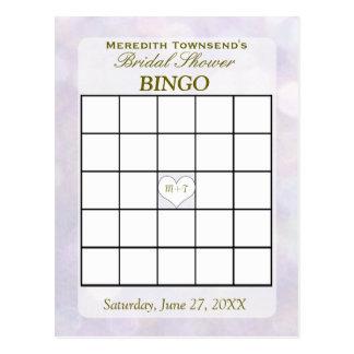 Lavendel Bokeh   Bingo-Karte Postkarten