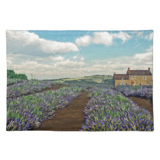 Lavendel fängt Platz-Matte auf Stofftischset