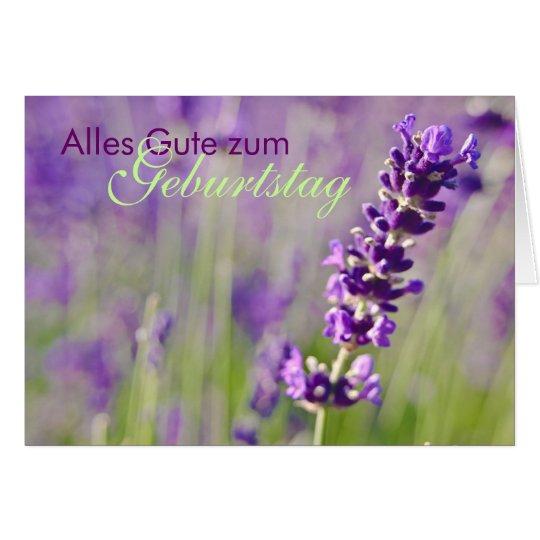 Lavendel • Geburtstagskarte Grußkarte