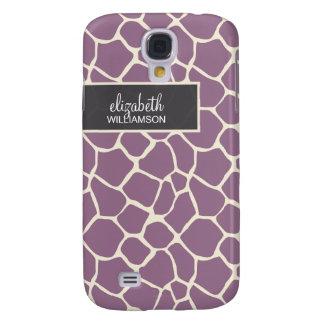 Lavendel-Giraffe Pern Galaxy S4 Hülle