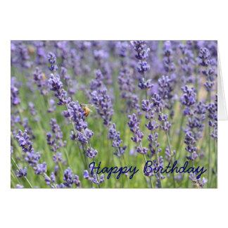 Lavendel-inspirierte Geburtstags-Karte Karte
