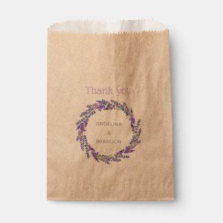 Lavendel-Kranz - danke Geschenktütchen
