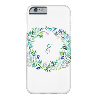 Lavendel-Kranz-Monogramm Barely There iPhone 6 Hülle