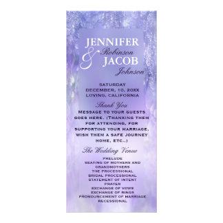 Lavendel KristallBokeh Hochzeits-Programm Werbekarte