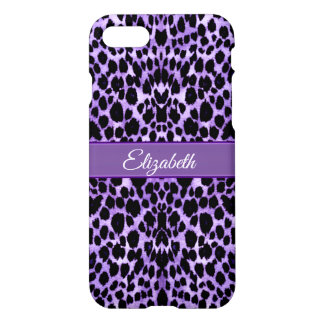 Lavendel-Leopard-Tierdruck iPhone X Fall iPhone 8/7 Hülle