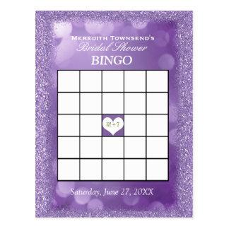 Lavendel-Lichter der Bingo-Karten-  Postkarten