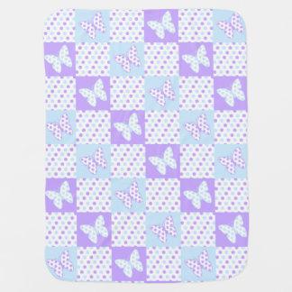 Lavendel-lila blaue puckdecke
