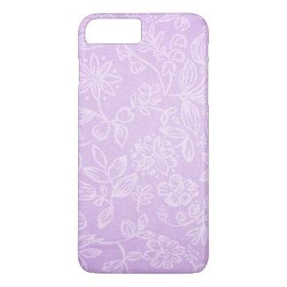 Lavendel-lila Blumengewebe-Muster iPhone 7 Plus Hülle