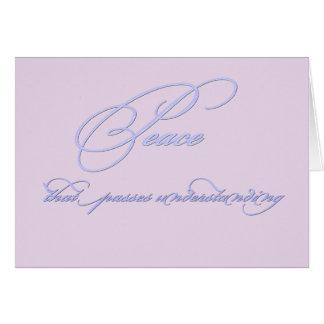 Lavendel-lila Frieden Karte