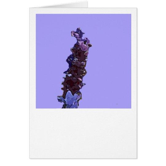 Lavendel Mitteilungskarte