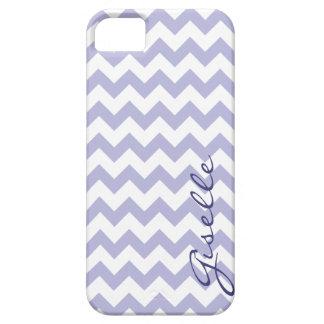 Lavendel-Monogramm-Zickzack Zickzack-Muster iPhone Hülle Fürs iPhone 5