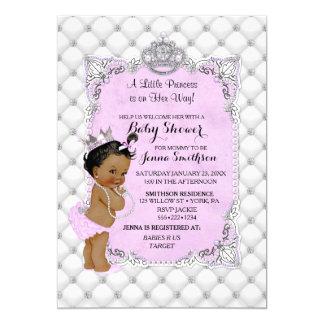 Lavendel Perlen-Diamant-ethnischer Prinzessin-Baby 12,7 X 17,8 Cm Einladungskarte