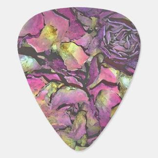 Lavendel-rosa Rosen-BlumenblätterWatercolor Plektrum