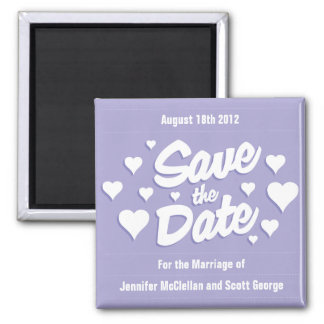 Lavendel-Save the Date Herz-Save the Date Magnet