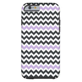 Lavendel Schwarz-weißer Zickzack iPhone 6 Kasten Tough iPhone 6 Hülle